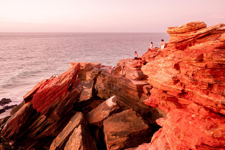 Broome Rocks Overlooking Ocean